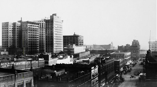 A View of Downtown Birmingham - circa 1916