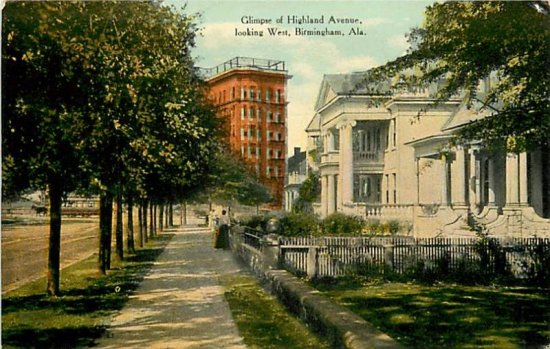 Glimpse of Highland Avenue Looking West